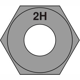 1-8  Heavy Hex Structural Nuts A 194 2 H Plain, Pkg of 75