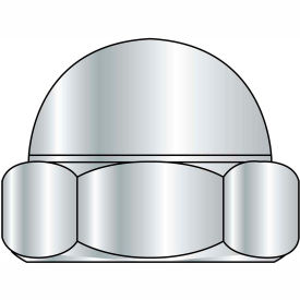 1-8  Two Piece Low Crown Cap Nut Nickel Plated, Pkg of 50