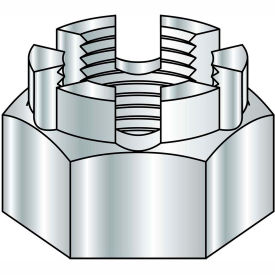 1-8  Castle Nut Zinc, Pkg of 50