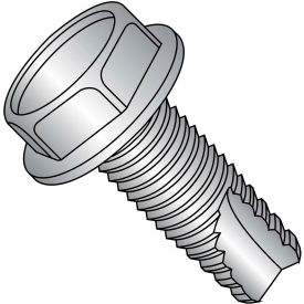 10-24X1  Unslot Ind Hex Washer Thread Cutting Screw Type 23 Full Thread 18 8 Stainless St,2000 pcs