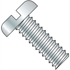 10-24X6  Slotted Pan Machine Screw Fully Threaded Zinc, Pkg of 400