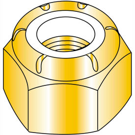 10-24 Nylon Insert Hex Lock Nut Zinc Yellow, Package of 2000 by