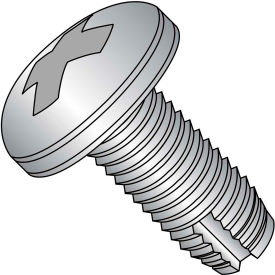 10-32X3/8  Phillips Pan Thread Cutting Screw Type 1 Full Thread 18 8 Stainless Steel, Pkg of 4000