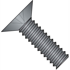 10-32X1  Phillips Flat 100 Degree Machine Screw Full Thrd 18 8 Stainless Steel Black, Pkg of 1000