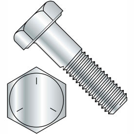 1 1/8-7X3 3/4  Coarse Thread Hex Cap Screw Grade 5 Zinc, Pkg of 25