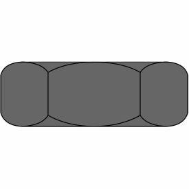 1 1/8-12 Hex Jam Nut Plain Steel, Package of 100 by