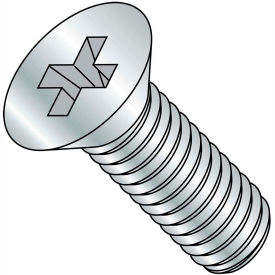 10-32X4 1/2  Phillips Flat Machine Screw Fully Threaded Zinc, Pkg of 700