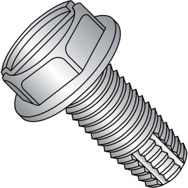 12-24X1  Slotted Indented Hex Washer Thread Cutting Screw Type F Fully Thread 18 8 Stain,1500 pcs