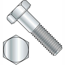 1 1/4-7X6 1/2  Hex Cap Screw Grade 2 Zinc, Pkg of 14