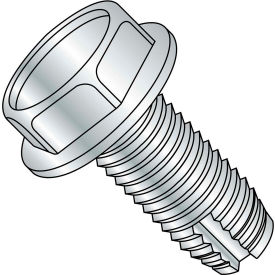1/4-20X3/4  Unslotted Indented Hex Washer Thread Cutting Screw Type 1 Full Thrd Zinc, Pkg of 2500