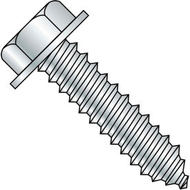 1/4-10X1  A/F.428-.437 Head Hgt.172-.190 Unslot Indent Hexwash Lag Screw Full Thread Zinc,2000 pcs