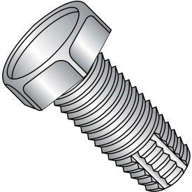 1/4-20 x 1 Unslotted Indent Hex Thread Cutting Screw Ful Thread 18-8 SS - Pkg of 1000