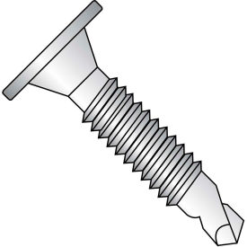 1/4-20X1   Phillips Wafer Head Full Thread Self Drilling Screw 18 8 Stainless Steel, Pkg of 1000
