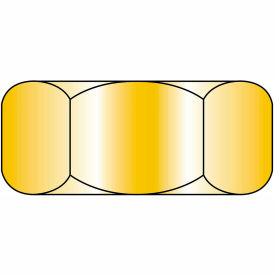 1/4-20  Finished Hex Nut Zinc Yellow, Pkg of 3000