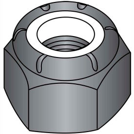 1/4-20  Nylon Insert Hex Lock Nut Black Zinc, Pkg of 2000