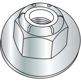 1/4-20  Nylon Insert Flange Stop Hex Lock Nut Zinc, Pkg of 2000