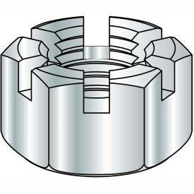 1 1/2-12  Slotted Hex Nut Zinc, Pkg of 20