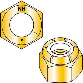 1 1/2-12  Nylon Insert Hex Locknut Grade 8 Zinc Yellow, Pkg of 2