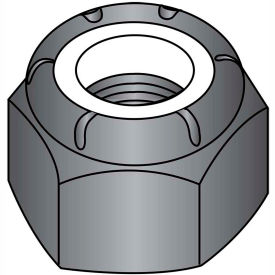 1/4-28  Nylon Insert Hex Lock Nut Black Oxide, Pkg of 2000