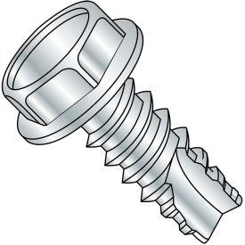 5/16X3/4  Unslotted Indented Hex Washer Thread Cutting Screw Type 25 Full Thrd Zinc A, Pkg of 1000