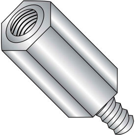 8-32 x 7/8 Five Sixteenths Hex Male Female Standoff - Stainless Steel - Pkg of 100