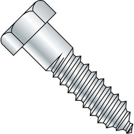 3/8X6 1/2  Hex Lag Screw Zinc Gimlet Point, Pkg of 100