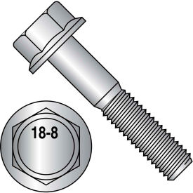 3/8-16X1 1/4  Hex Head Flange Frame Bolt IFI-111 2002 18 8 Stainless Steel, Pkg of 250