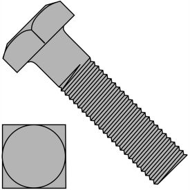 3/8-16X1 1/2  Square Machine Bolt Plain, Pkg of 500