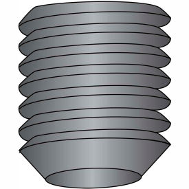 3/8-16 x 2 Coarse Thread Socket Set Screw - Cup Point - Plain - Pkg of 100