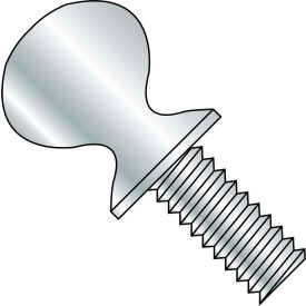 "3/8-16 x 2"" Thumb Screw w/ Shoulder - FT - Zinc - Pkg of 200"