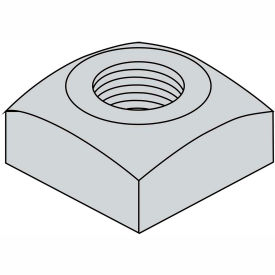 3/8-16 Regular Square Nut Hot Dipped Galvanized, Package of 700 by