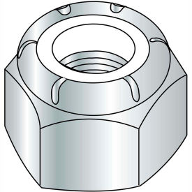 3/8-16  NE  Nylon Insert Hex Lock Nut Zinc, Pkg of 1000