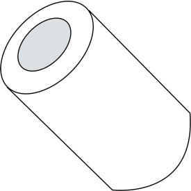 #6 x 9/16 One Half Round Spacer Nylon - Pkg of 1000