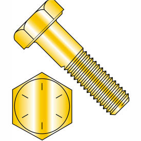 9/16-12 x 4 Hex Cap Screw - Coarse Thread - Grade 8 - Zinc Yellow - Pkg of 150