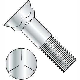 5/8-11X3  Grade 5 Plow Bolt With Number 3 Head Zinc, Pkg of 150