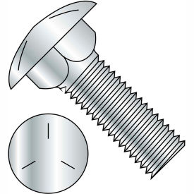 5/8-11 X 6 Carriage Bolt - Grade 5 - Fully Threaded - Round Head - Square Neck - Zinc - Pkg Of 70
