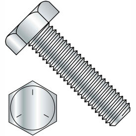 5/8-18x5 1/2 Hex Tap Bolt Grade 5 Fully Threaded Zinc, Pkg of 25