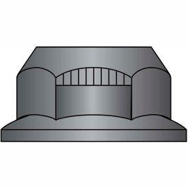 3/4-10  Stover Equivalent Lock Nut Automation Style With Flange Grade G Black Phosphate, Pkg of 250
