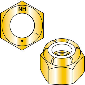 3/4-10  Nylon Insert Hex Locknut Grade 8 Zinc Yellow, Pkg of 50