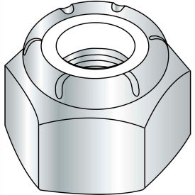 3/4-16  Nylon Insert Heavy Pattern Hex Nut Zinc, Pkg of 50