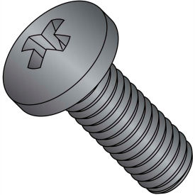 M5X8  Din 7985 A Metric Phillips Pan Machine Screw 18-8 Stainless Steel Black Oxide, Pkg of 1500