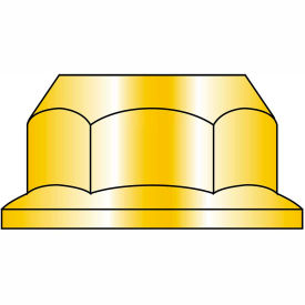 M6-1 Din 6923 Metric Class 10 Hex Flange Nut Zinc Yellow, Package of 3000 by