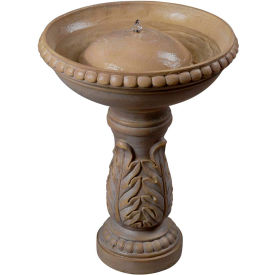 "Kenroy Lighting, Acanthus Birdbath Fountain, 50020SS, Stone Finish, Resin, 16.5""L by"
