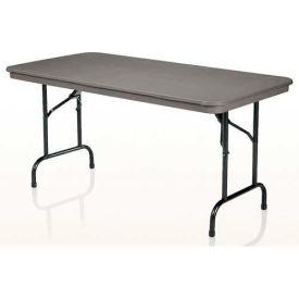 "KI Plastic Folding Table - Rectangular - 72""L x 30""W - Blue Grey - Duralite Series"