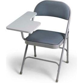 300 Series Steel Folding Chair - Warm Grey Vinyl - Right Hand Tablet Arm - Pkg Qty 2