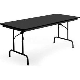 """KI Folding Table - Laminate - 30""""Wx96""""L - Graphite Nebula - Heritage Series"""