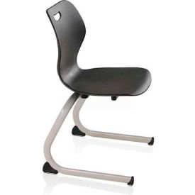 Intellect Wave Cantilever Chair - Starlight Silver frame and Black shell