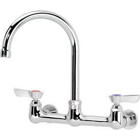 """Krowne 12-801L - Commercial Series 8"""" Center Wall Mount Faucet, 6"""" Gooseneck"""