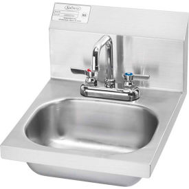 """Krowne HS-18 - 16"""" Wide Hand Sink with Deck Mount Faucet"""