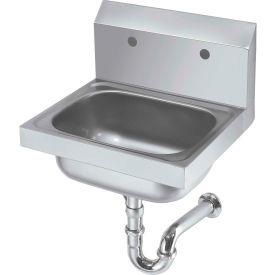 "Krowne HS-20 - 16"" Wide Hand Sink with 8"" Center Faucet Holes (LESS FAUCET)"